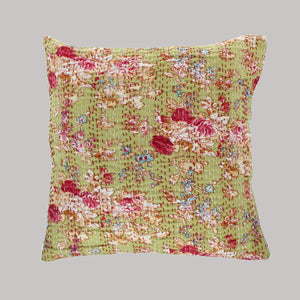 Green Gudri Cushion Complete