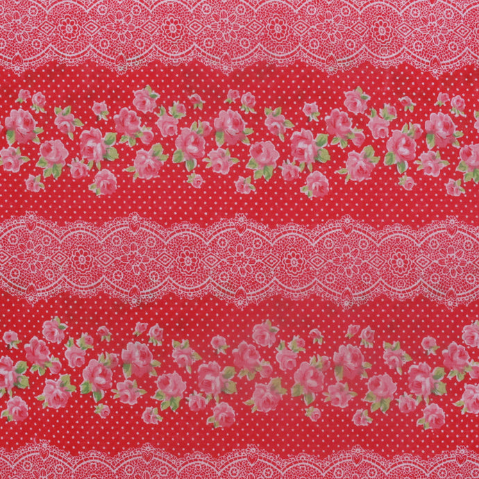 Hattie Red Fabric by the Metre