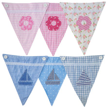 Load image into Gallery viewer, Boys Blue Letter Bunting