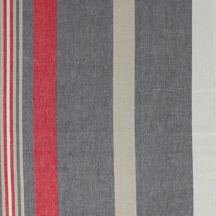 Westward Ho! Red Cotton Canvas Fabric by the Metre