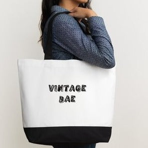 The Vintage Bae Thrifting Cotton Canvas Tote Bag
