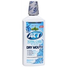 Act Total Care Dry Mouth Anticavity Fluoride Rinse Soothing Mint 18.0 oz. (Quantity of 5) by Unknown