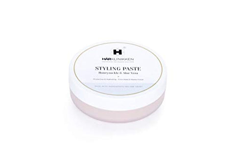 Harklinikken Styling Paste |3.38 Oz. Firm Hold Matte Finish | Honeysuckle & Aloe Vera - Perfume and Preservative Free - Hydrating