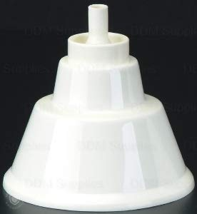 Dental Evacuation Dry Oral Cup (For Central Vacuum Valves) Autoclavable Up To 250 F, White Color, Reusable - Single Pack
