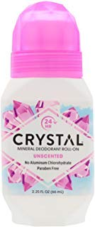 Crystal Mineral Body Deodorant Roll-On, Unscented 2.25 oz (Pack of 6)