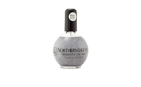 INM Northern Lights Hologram Top Coat Silver 2.5 oz