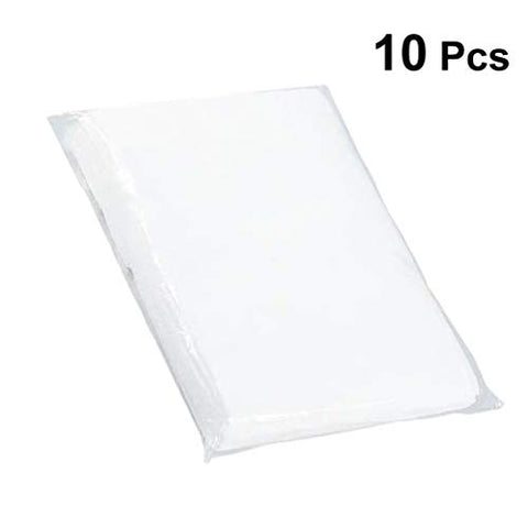Exceart 10PCS Disposable Bed Cover Portable Disposable SPA Salon Non Woven Bed Sheets for Shop SPA Beauty Salon Bedding Supplies (White)