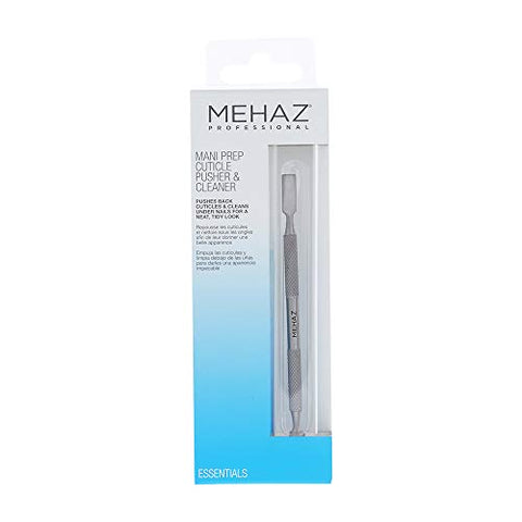 Mehaz Stainles Steel Mani Prep Cuticle Pusher & Cleaner, 5