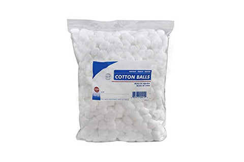 Cotton Balls. Case of 4000 Medium Cotton Balls for Wound Care. Soft and Absorbent, 100% Cotton. Non-sterile Cotton. Soft, White, Single use, Latex-Free.