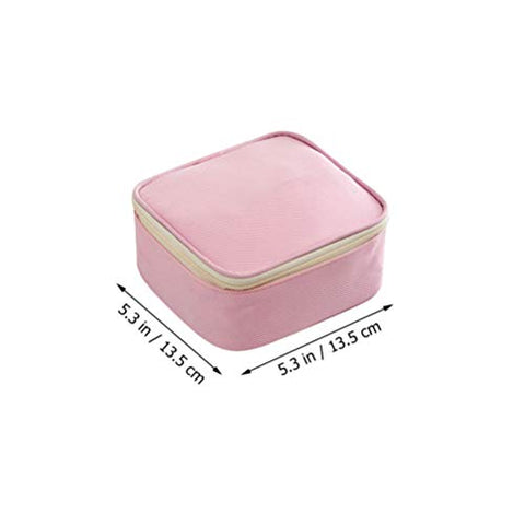 Cabilock Sanitary Towel Storage Pouch Cosmetic Bags Portable Small Makeup Bag Travel Cosmetic Pouch Toiletry Bag Pink