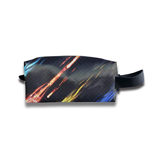 Taslilye Sky Comets and Meteorite Trails Isolated Customized Cosmetic Bag Portable Printing Bag for Women's Storage