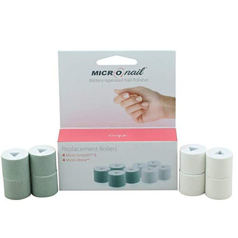 Genuine Replacement Rollers for Premium Emjoi Micro Nail, Smooths, Buffs & Shines Fingernails, Toenails Instantly for a Long-Lasting Natural Look