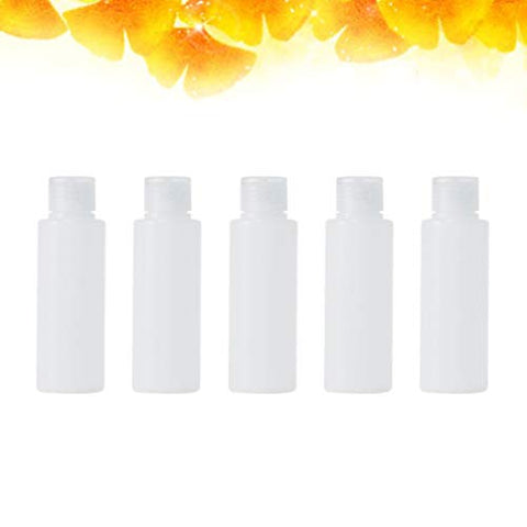 Beaupretty 5pcs Travel Bottles Travel Container Tube Travel Size Toiletries Containers Makeup Bottle Shampoo Liquids Lotion Dispenser