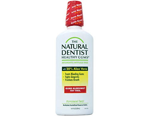 The Natural Dentist (NOT A CASE) Healthy Gums Antigingivitis Oral Rinse Peppermint Twist