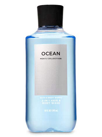 BATH AND BODY WORKS, GIFT SET OCEAN FOR MEN ~ BODY WASH ~ BODY LOTION AND DEODORIZING BODY SPRAY- FULL SIZE