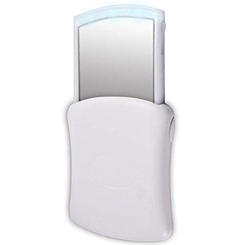 Compact LED Lighted Pop-Up Cosmetic Mirror