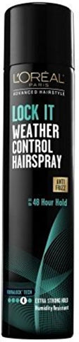 L'Oreal Advanced Hairstyle Lock It Weather Control Hair Spray Extra Strong Hold 8.25 oz (Pack of 4)