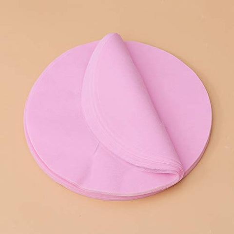 SUPVOX 100PCs Disposable Face Cover Pad Massage Face Pillow Covers Facial Bed Salon Spa Headrest Pillow Sheets (Pink)