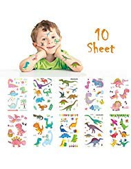 Dinosaur Temporary Fake Tattoos Waterproof Body Stickers Party Favors Supplies ?10 Sheets?