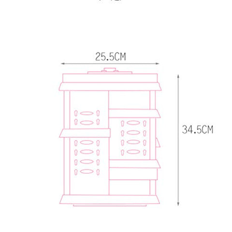 LALAWO Perfect Space Management Equipment Rotatable Cosmetic Space Management Equipment Drawer Multi-Layer Transparent Dressing Table Desktop Rack Item Container (Color : White)