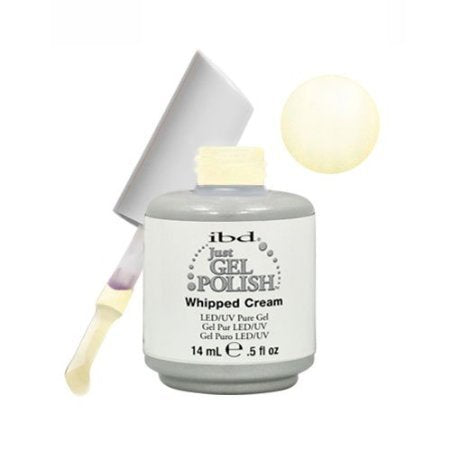 IBD Just Gel WHIPPED CREAM Soak Off White Nail Polish UV Manicure .5 oz Salon