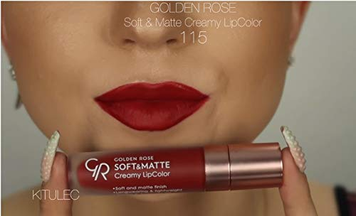 Golden Rose Soft and Creamy Matte Liquid Lipstick - 115 Maroon