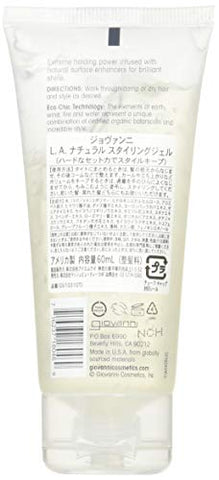 GIOVANNI COSMETICS L.A. Natural Styling Gel, 2 Oz