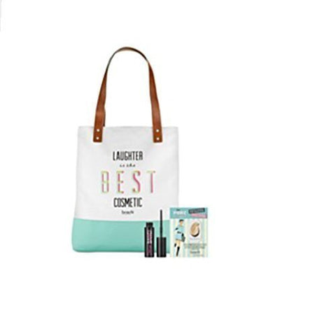 Benefit Cosmetics Tote Bag with Bad Girl Mascara Mini, The POREfessional Face Primer Mini, Limited Edition