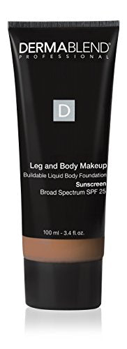 Dermablend Leg And Body Makeup, With Spf 25. Skin Perfecting Body Foundation For Flawless Legs With