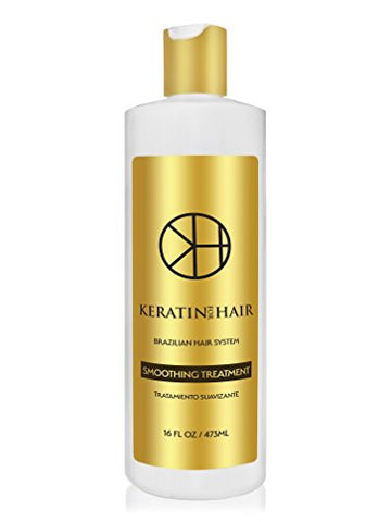 Brazilian Keratin Hair Treatment Professional Smoothing Complex Blowout with Argan Oil Improved Formula and Fragrance By Keratin Cure Formaldehyde Free Repair For all hair types (16 fl oz)