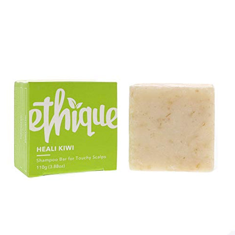 Ethique Eco-Friendly Solid Shampoo Bar for Dandruff & Touchy Scalps, Heali Kiwi - Sustainable Natural Shampoo, Plastic Free, 100% Soap Free, Vegan, Plant Based, 100% Compostable and Zero Waste, 3.88oz