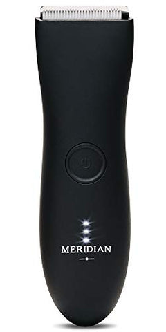 The Trimmer by Meridian: Electric Below-The-Belt Trimmer Built for Men | Effortlessly Trim Pesky Hair | Waterproof Groin & Body Shaver | 90 Minute Battery Life with Universal USB Charging (Oynx)