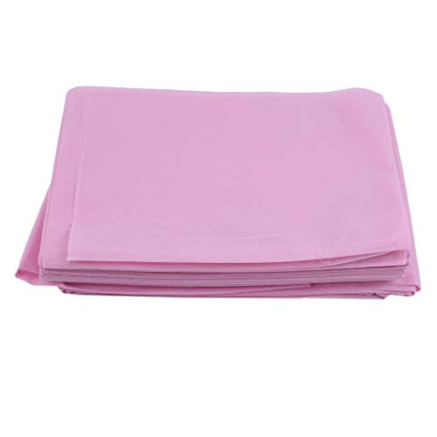 GloryMM Non-Woven Disposable Fitted Massage Table Sheet Bedsheet Beauty Cover Anti-Oil Table Sheet Bedsheet,Pink