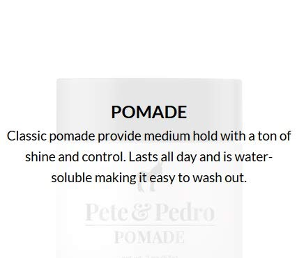 Pete and Pedro Pomade - Best Hair Styling Pomade for Men