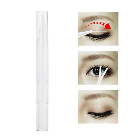 Double Eyelid Styling Glue, 3ml Professional Invisible Double Eyelids Adhesive Cream with Y Stick, Double-Fold Eyelid Gel Harmless Natural Long Lasting Effect