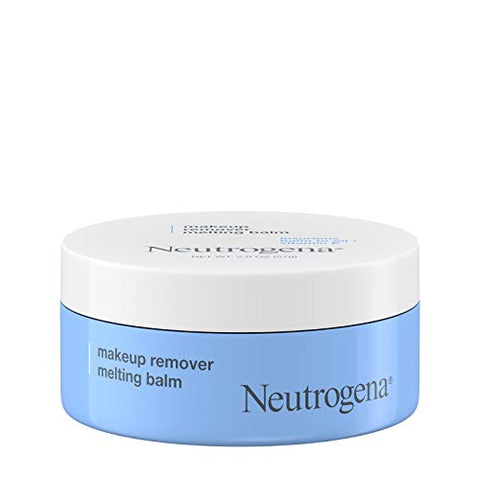 Neutrogena Makeup Remover Melting Balm to Oil with Vitamin E -Gentle and Nourishing Makeup Removing Balm for Eye Lip or Face Makeup Travel (Friendly for On the Go), blue, 2 Oz