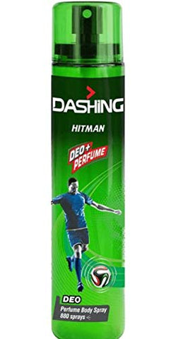 DASHING Deo Perfume Body Spray Hitman 120ml -Formulated with long-lasting, masculine DASHING fragrances it ensures you're feeling fresh and smelling great throughout the day.
