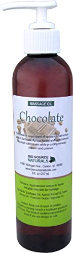 Chocolate Massage Oil/Body Oil 8 fl. oz. with All Natural Plant Oils
