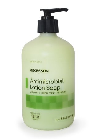 MCK Brand 80871800 Antimicrobial Soap Mckesson Lotion 18 Oz. Pump Bottle 53-28087 Box Of 1