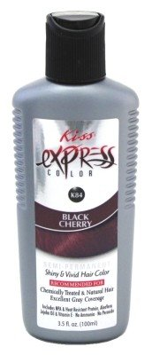 Kiss Express Color #K84 Semi-Permanent Black Cherry 3.5 Ounce (103ml) (3 Pack)