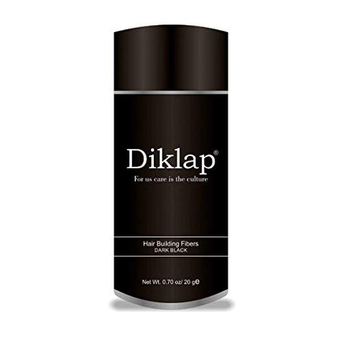 Diklap Hair Building Fiber, Black, Natural Keratin Hair Building Fiber for Men and Women 20gram