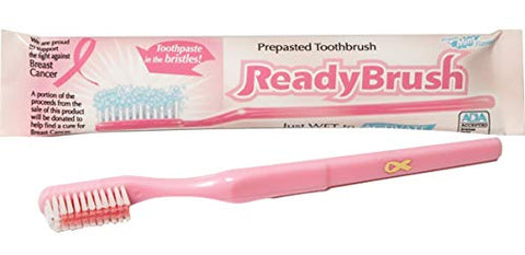 Ready Brush Breast Cancer Awareness Disposable Toothbrush (144)