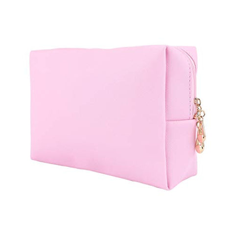 PIXNOR Cosmetic Bag Travel Cosmetic Case Organizer Portable Artist Storage Bag Toiletry Bag Makeup Pouch Zipper Pouch for Women Girls Pink