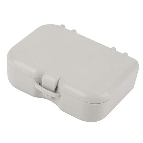 Denture Case, False Teeth Storage Box Dental Retainer Case Bath Cleaning Soaking Appliance Container with Mirror and Clean Brush