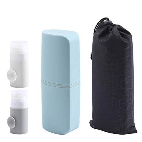 Travel Wash Cup Portable Female Men's Toiletries Travel Business Outdoor Travel Multi-function Bottle (Color : Blue B)
