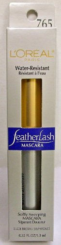 L'Oreal Paris Feather Lash Water Resistent Mascara, Black Brown, 0.32-Fluid