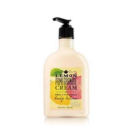 Bath and Body Works Lemon Pomegranate Cream NEW Daily Trio Gift Set - Fine Fragrance Mist 8 oz - Body Lotion 8 oz and Shower Gel 10 fl oz