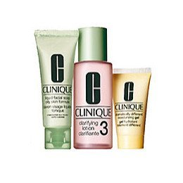 Clinique 3 Steps System For Oily/Oily Combination Skin Set: Dramatically Moisturizing Gel 4.2 Oz / 1