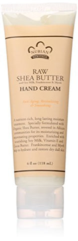 Nubian Heritage Hand Cream, Raw Shea and Myrrh, 4 Ounce