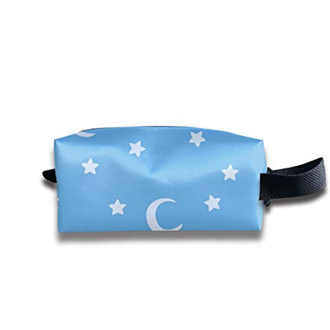Taslilye Blue Moon and Stars Sky Print Customized Cosmetic Bag Portable Printing Bag for Women's Storage